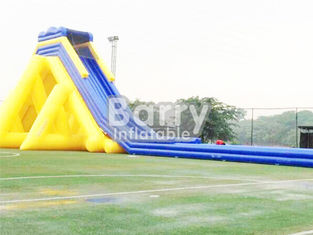 Diapositiva inflable comercial gigante amarilla/azul/diapositiva inflable adulta proveedor