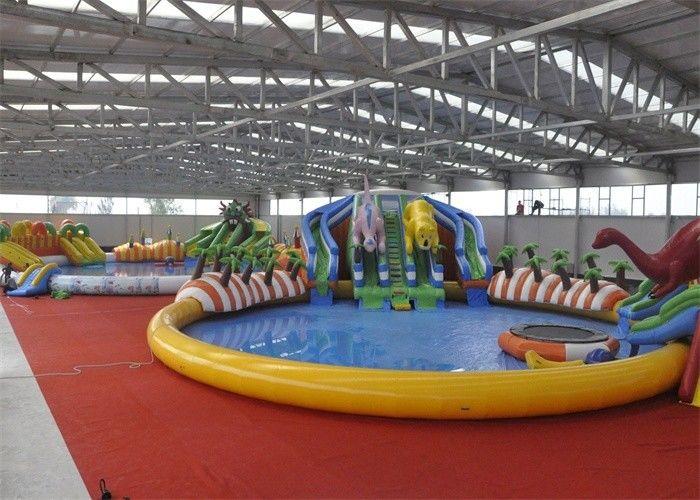 Parque Inflable Asombroso Del Agua Del Equipo Al Aire Libre Gigante