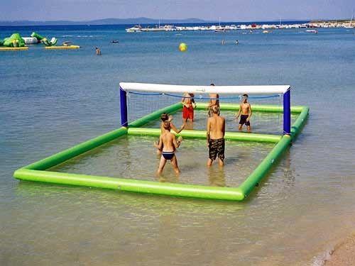 Juegos Inflables Al Aire Libre De La Playa Corte De Voleibol