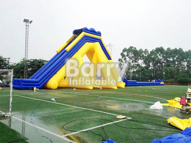 Diapositiva inflable comercial gigante amarilla/azul/diapositiva inflable adulta